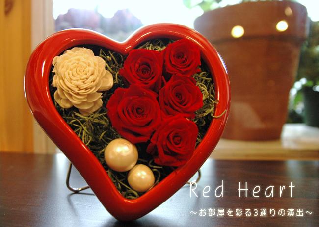 Red Heart(レッド):プリザーブドフラワー
