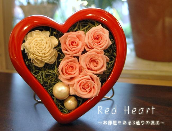 Red Heart(ピンク):プリザーブドフラワー