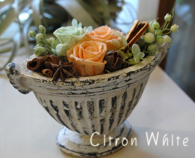 Citron(ホワイト):プリザーブドフラワー
