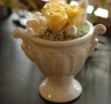 詳細2petite fleur(イエロー):プリザーブドフラワー