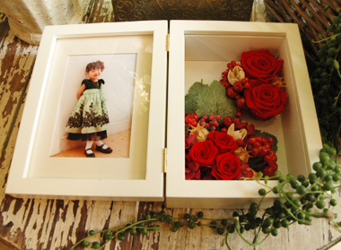 詳細2Memorial Photo Frame:プリザーブドフラワー