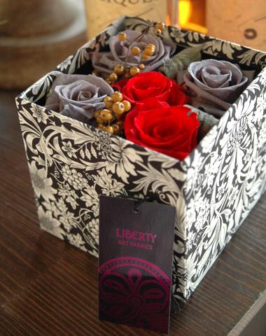 詳細2Libery Print Box (Ash Grey):プリザーブドフラワー